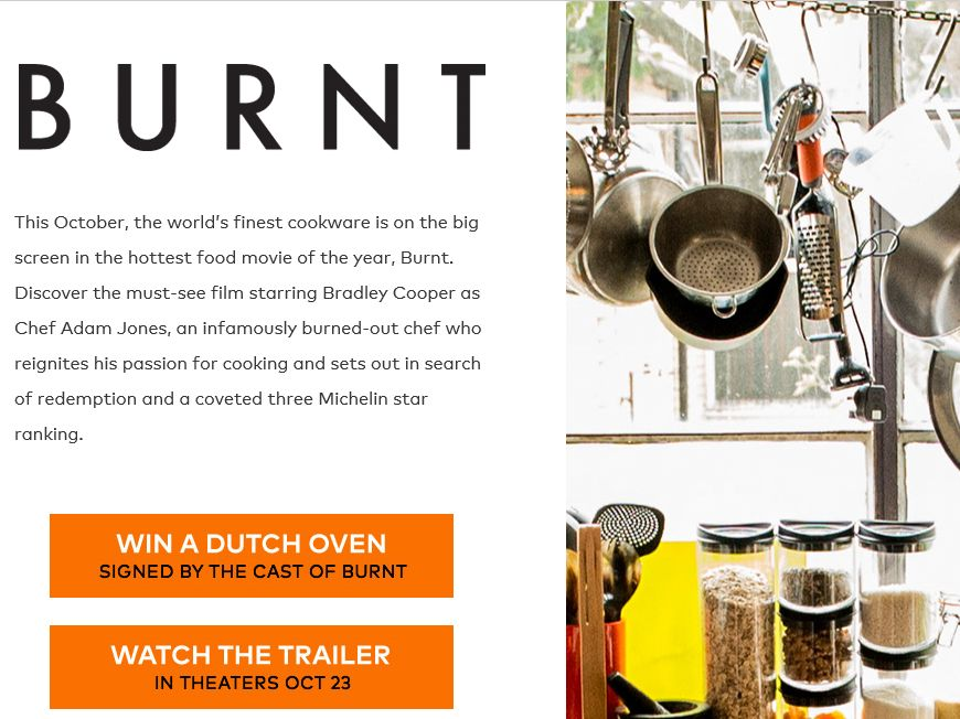 "The 2015 Le Creuset ""Burnt"" Sweepstakes"