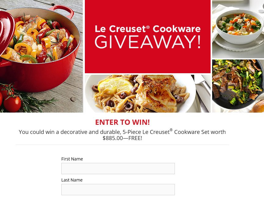 The Taste of Home Cast Iron Cookware Giveaway Sweepstakes