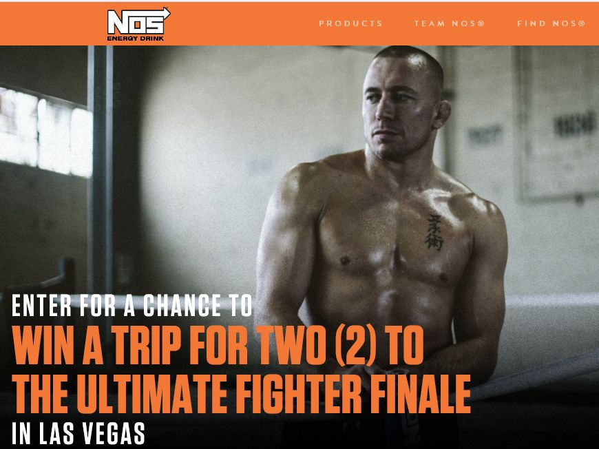 NOS T3 – The Ultimate Fighter Sweepstakes