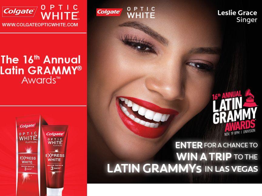 Colgate Optic White Latin Grammy Trip Sweepstakes