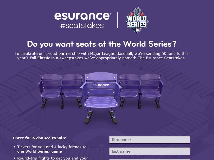The MLB World Series Esurance Seatstakes Sweepstakes
