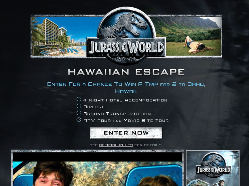The JURASSIC WORLD National Sweepstakes