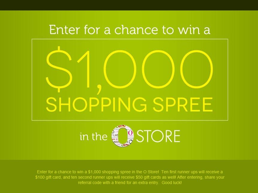 The O Store Sweepstakes