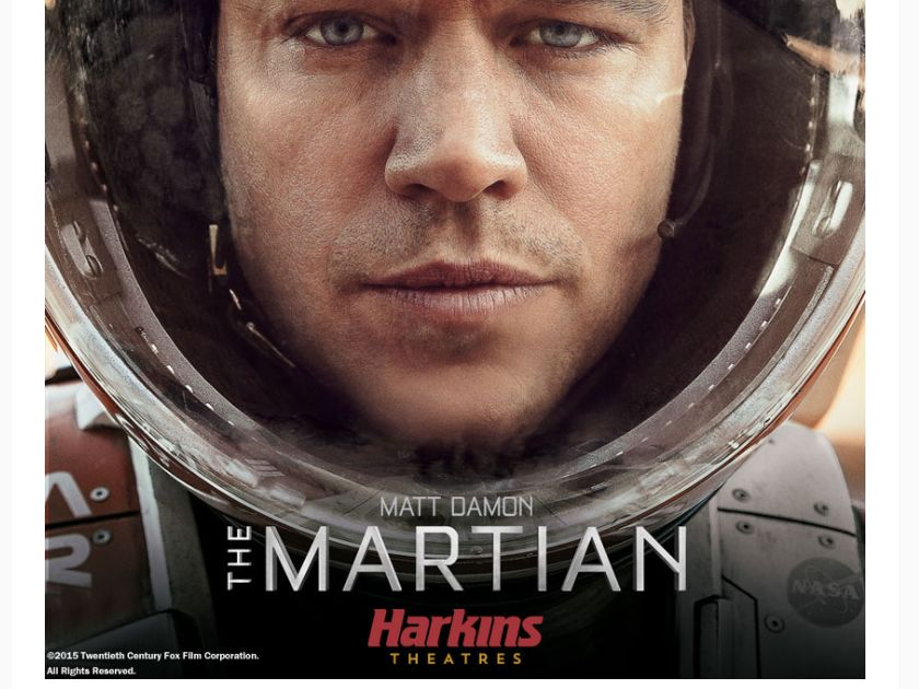 The Harkins The Martian Giveaway Sweepstakes