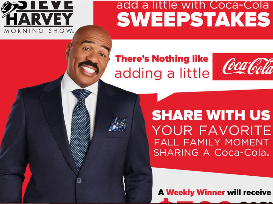 The Steve Harvey Morning Show's Add a Little with Coca-Cola Sweepstakes