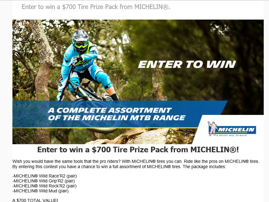 The MICHELIN's Ride Like a Pro Tire Giveaway