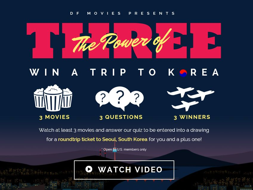 The DramaFever Movie Trivia Travel Giveaway Sweepstakes
