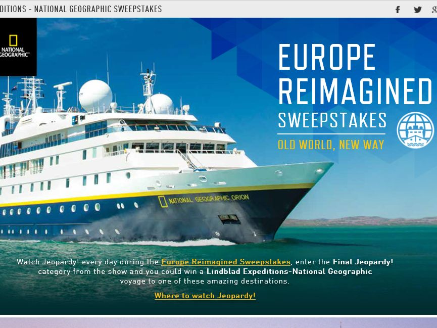 The Jeopardy Europe Reimagined Sweepstakes