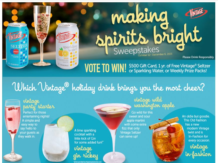 Vintage Making Spirits Bright Sweepstakes