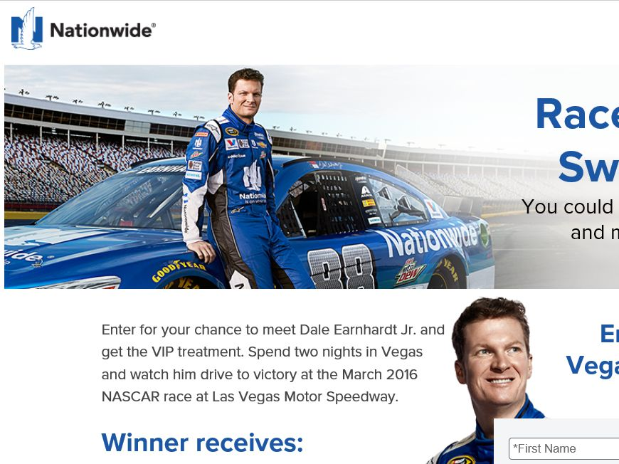 Nationwide Race to Vegas Sweepstakes