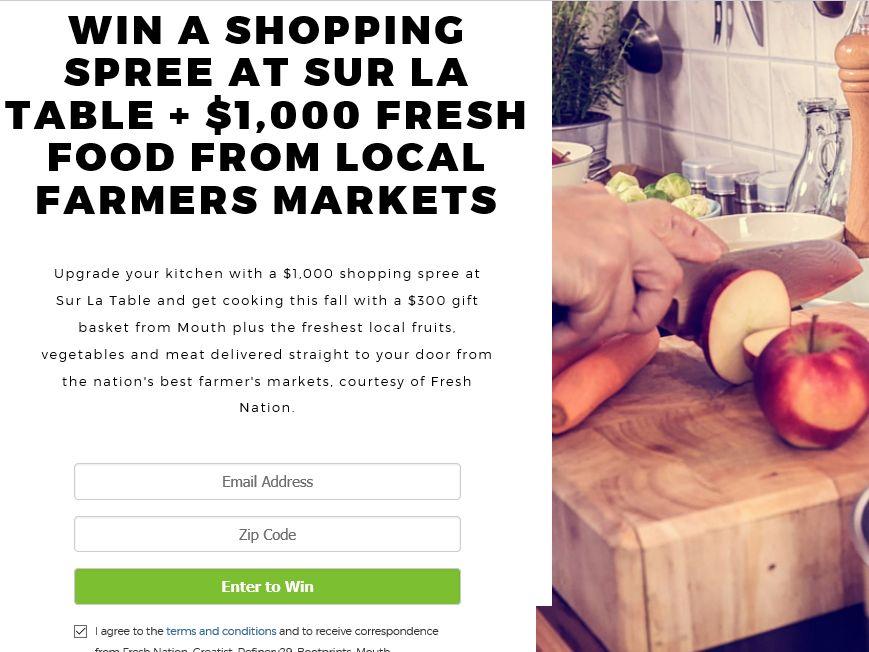 "Fresh Nation LLC ""Autumn Harvest"" Sweepstakes"