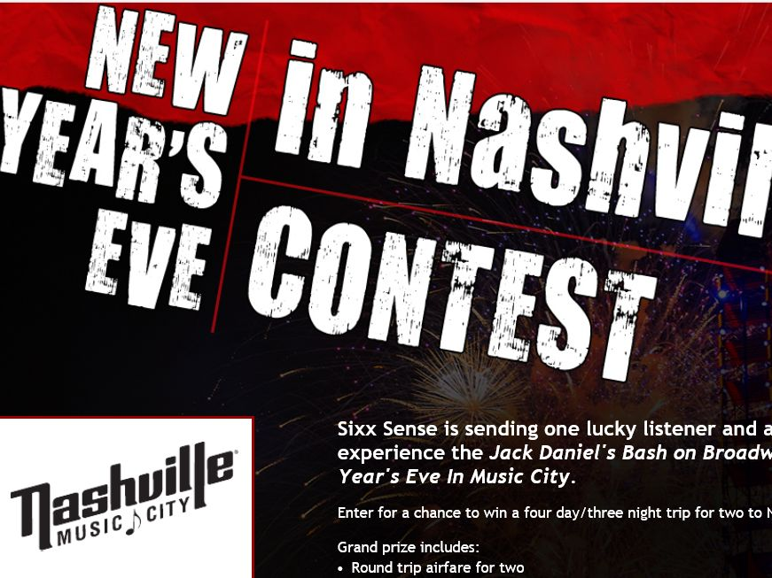 Sixx Sense's New Year's Eve in Nashville Sweepstakes