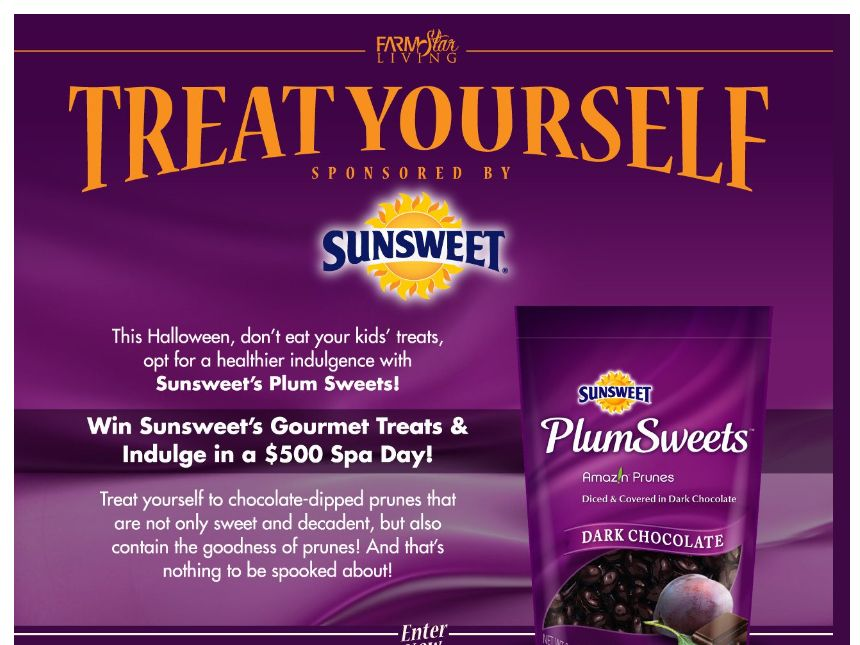 Farm Star Living and SunWorld Treat Yourself with SunSweet Sweepstakes