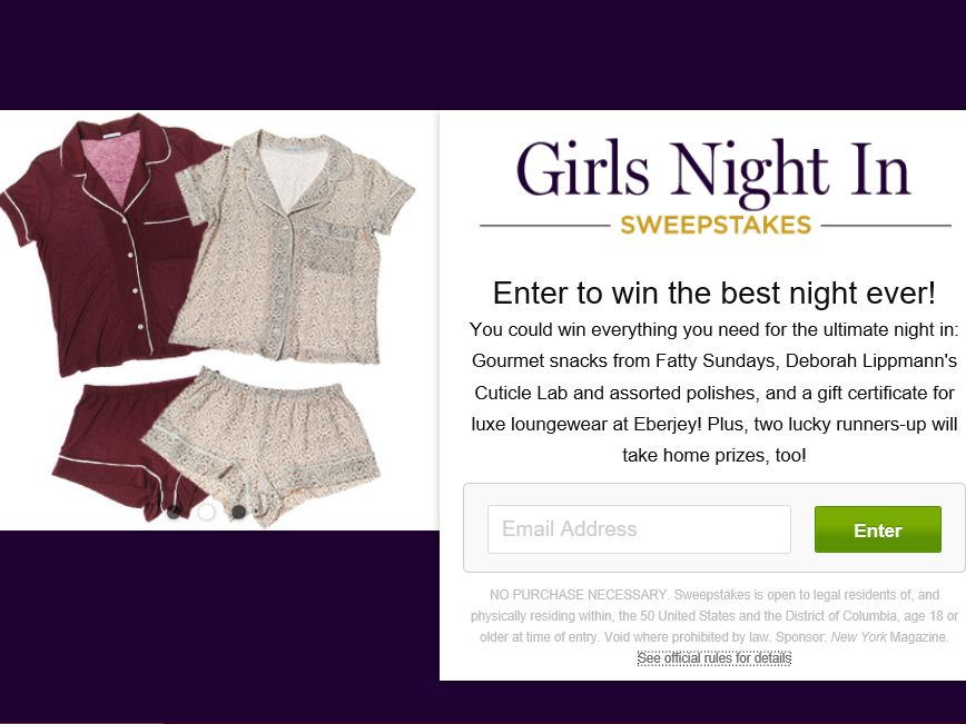 Girls Night In Sweepstakes