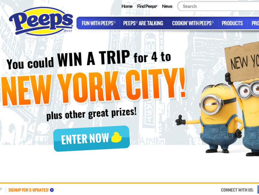 "Just Born's ""PEEPS Minions Win a Trip to NYC"" Sweepstakes"