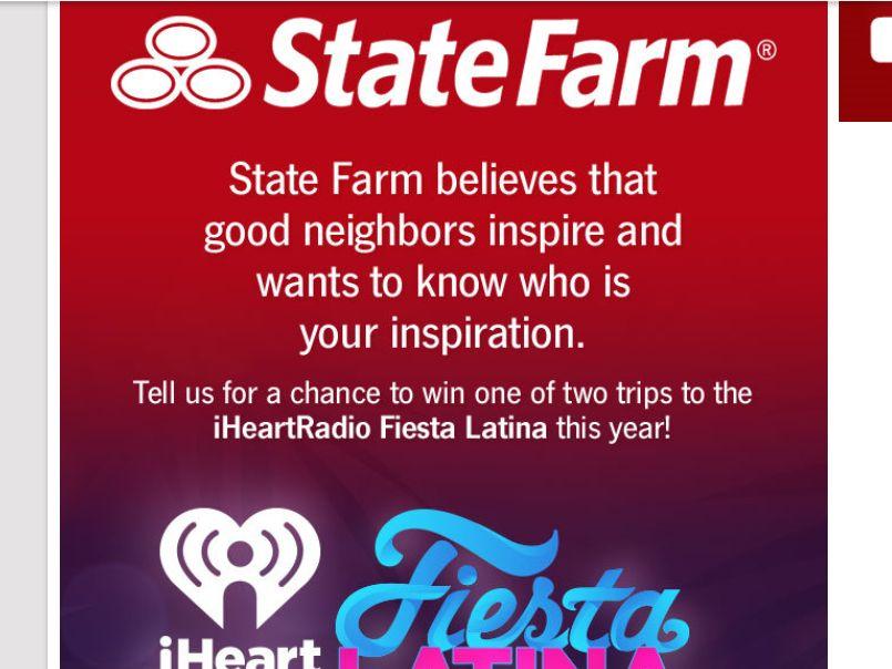 State Farm iHeartRadio Fiesta Latina Sweepstakes