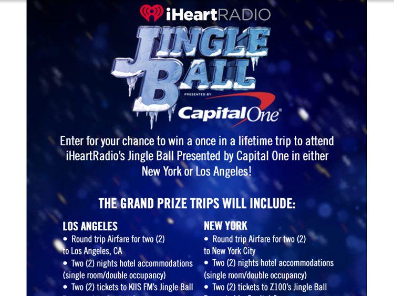 iHeartRadio's Jingle Ball Flyaway Sweepstakes