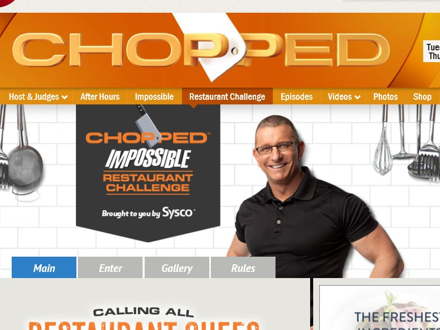 Chopped: Impossible Restaurant Challenge Sweepstakes – Professionals Only
