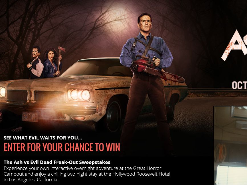 The Ash vs Evil Dead Freak-Out Sweepstakes