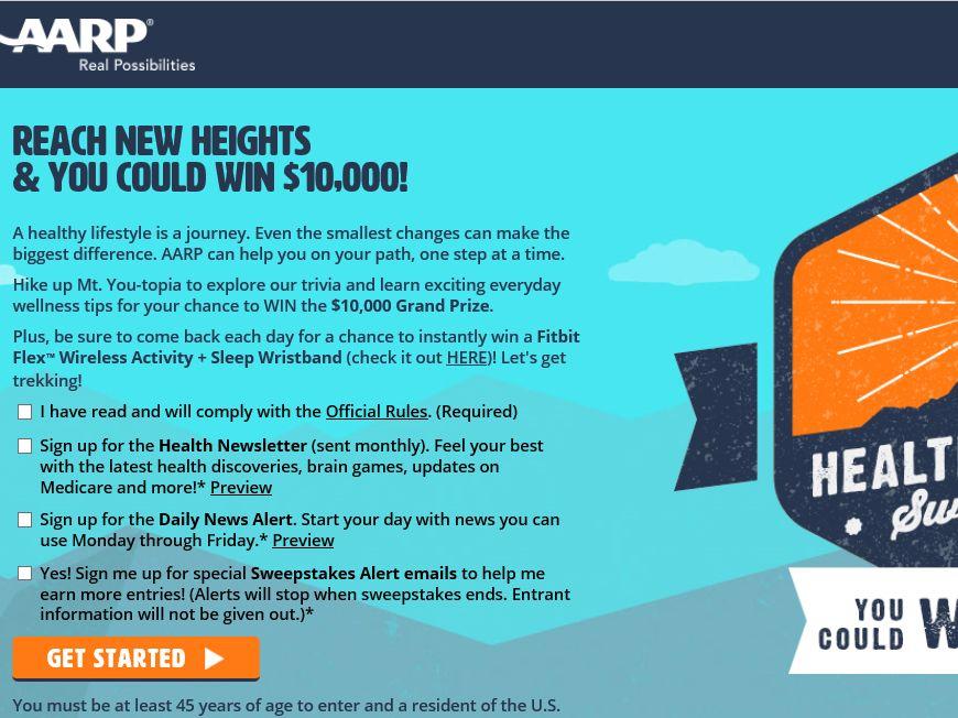 AARP Healthy Journey Sweepstakes