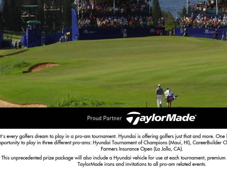 Hyundai Golf PGA Tour Sweepstakes