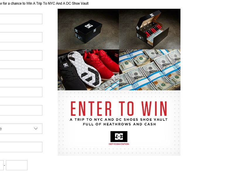 Tilly's Trip To NYC And A DC Shoe Vault Sweepstakes