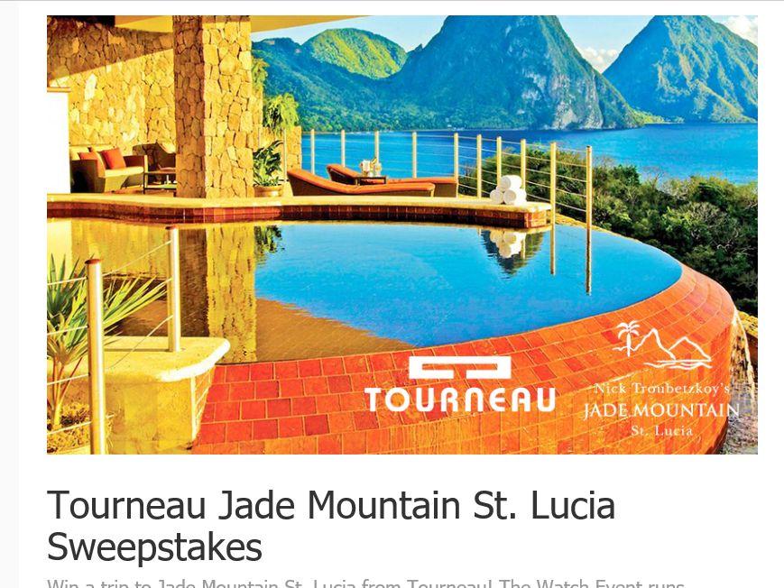 Tourneau Jade Mountain St. Lucia Sweepstakes