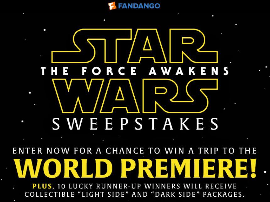 Fandango Star Wars: The Force Awakens Sweepstakes