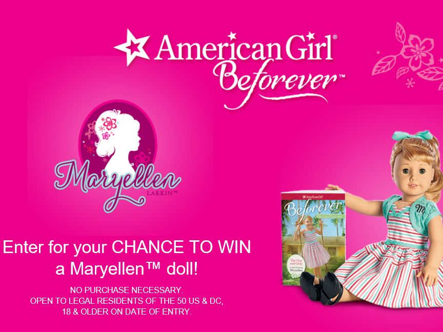 The American Girl Maryellen Online Doll Drawing Sweepstakes