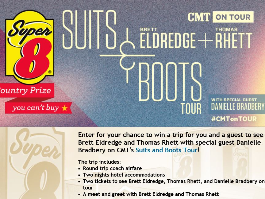 CMT's Suits and Boots Tour Country Prize You Can't Buy Sweepstakes