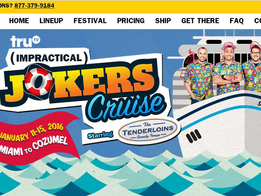 The Impractical Jokers Cruise – truTV Sweepstakes