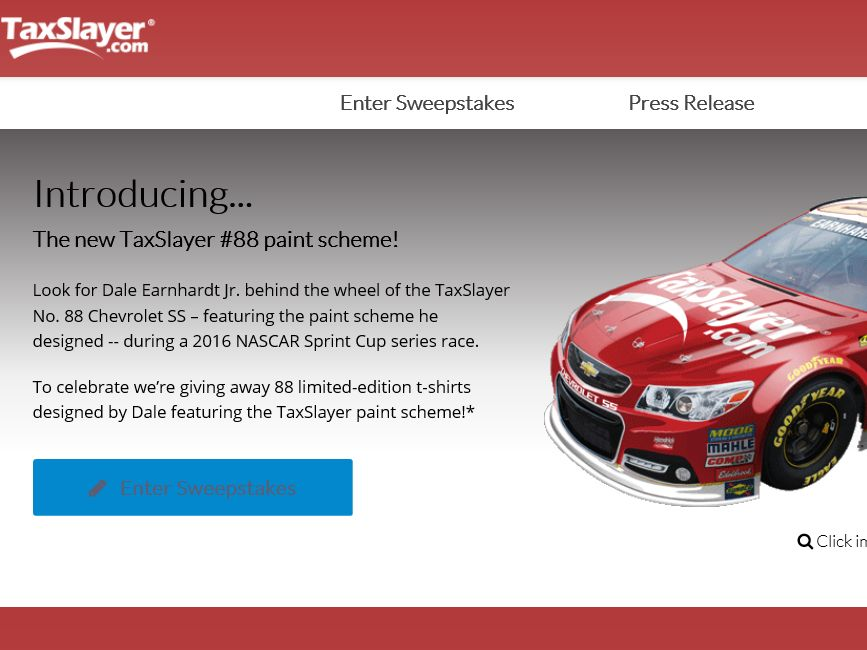 "The 2015 TaxSlayer.com ""88 Days 'till Tax Season"" Sweepstakes"