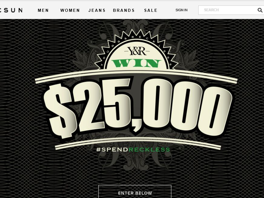 PacSun and Young & Reckless Present Spend Reckless Sweepstakes