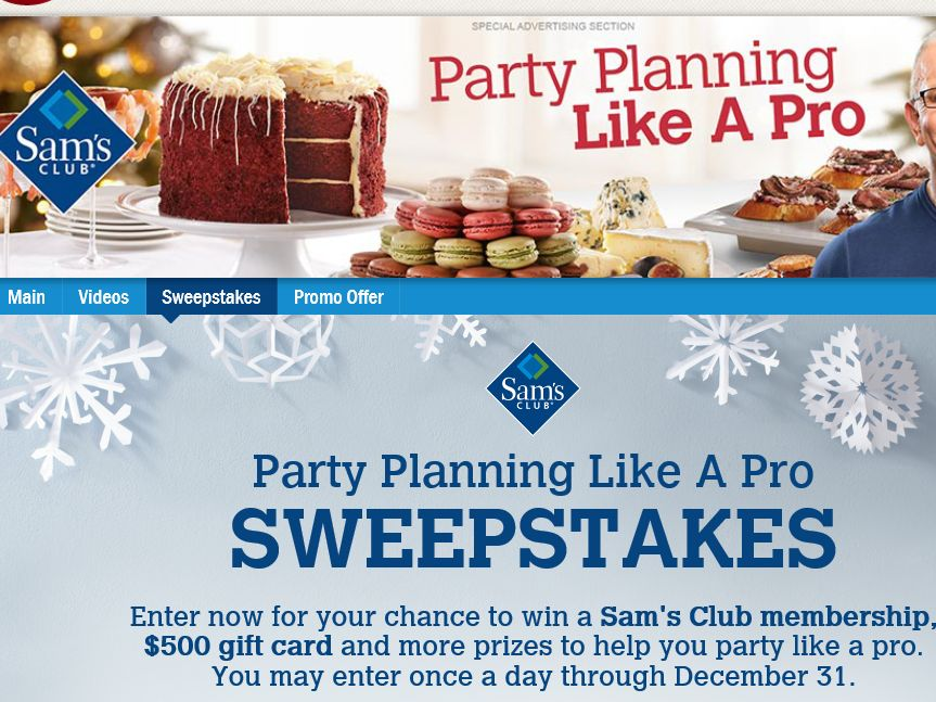 Food Network Party Planning Like a Pro Sweepstakes