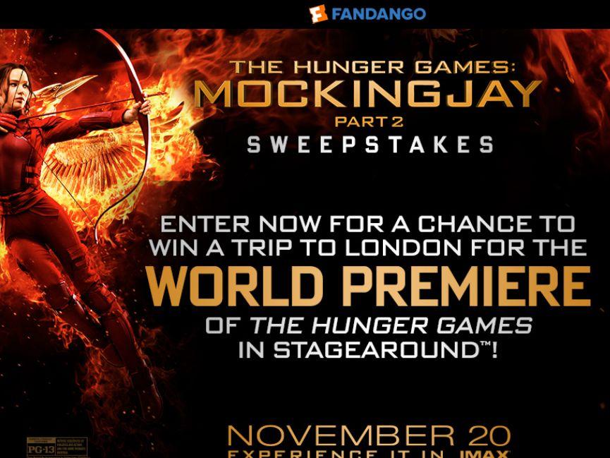 Fandango's The Hunger Games: Mockingjay – Part 2 Sweepstakes