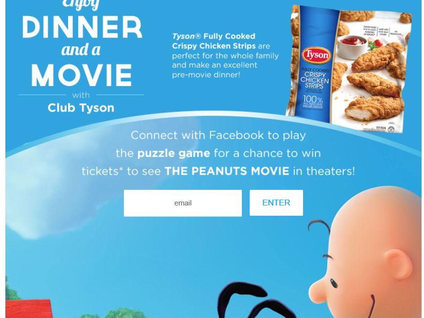 The Tyson Peanuts Movie Sweepstakes