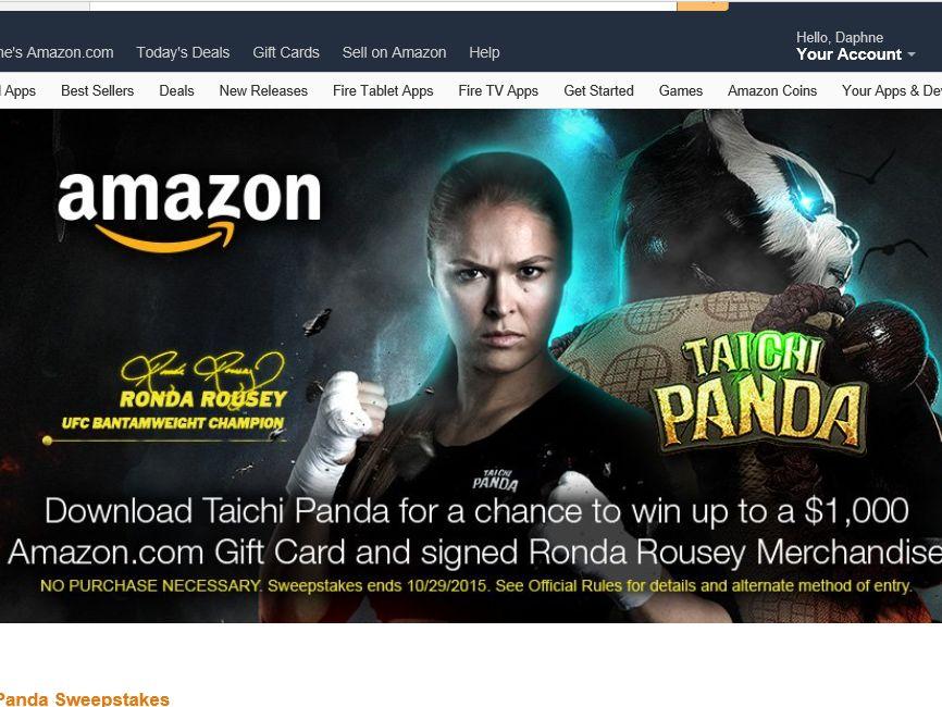 The Amazon Appstore & Snail Games TaiChi Panda Sweepstakes