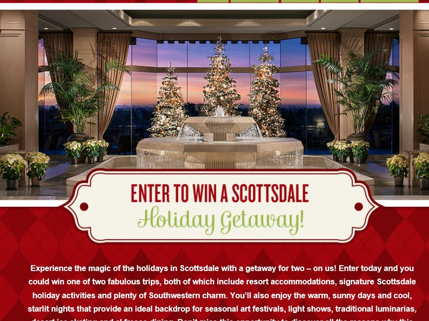 The Scottsdale Holiday Getaway Contest