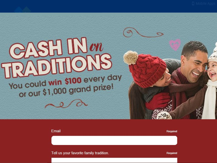 The Valpak Cash in on Traditions Sweepstakes