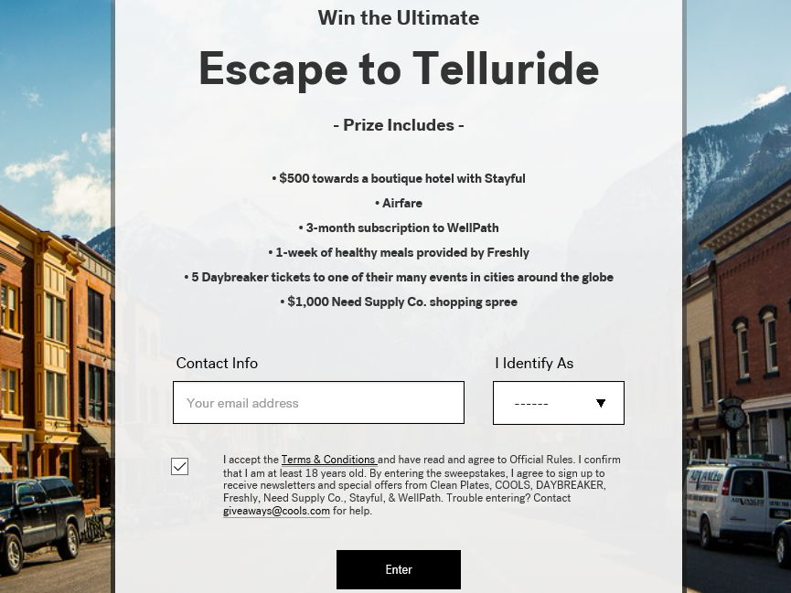 The COOLS Win the Ultimate Escape to Telluride Sweepstakes