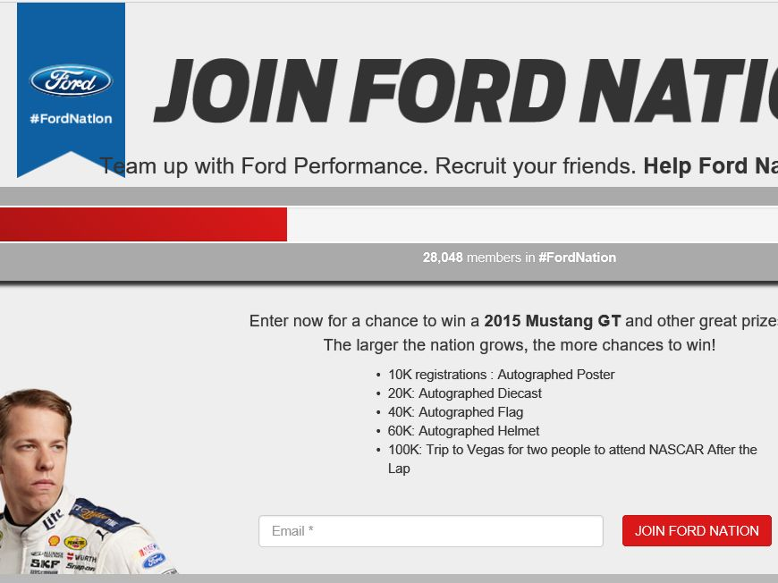 Ford Nation Sweepstakes