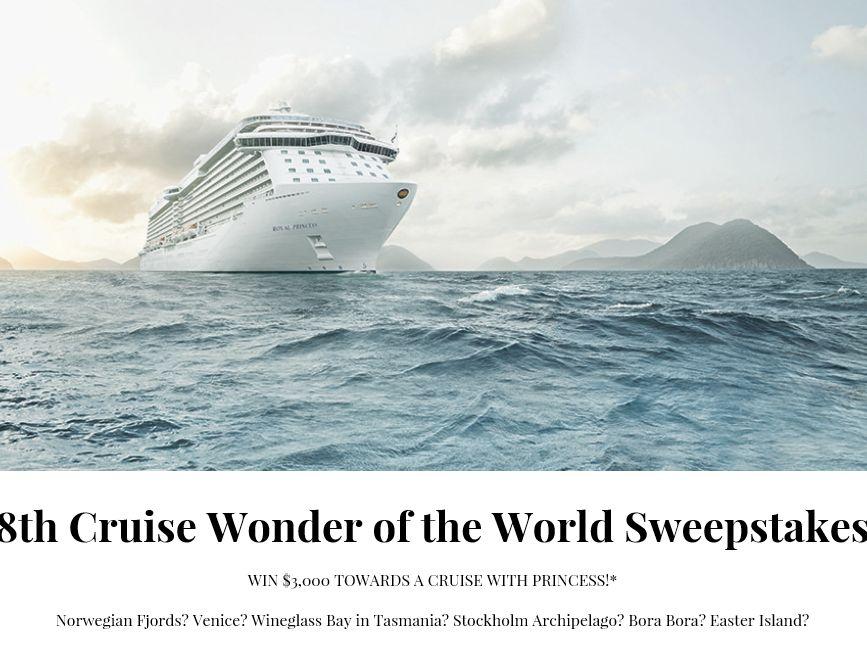 Conde Nast Traveler Post Princess 8th Cruise Wonder Sweepstakes