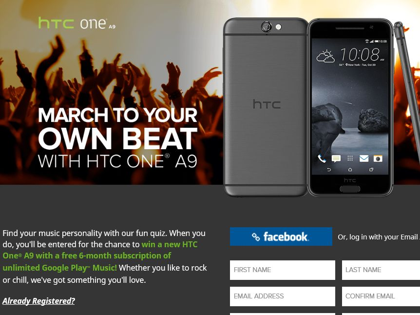 HTC One Find Your Beat Personality Sweepstakes