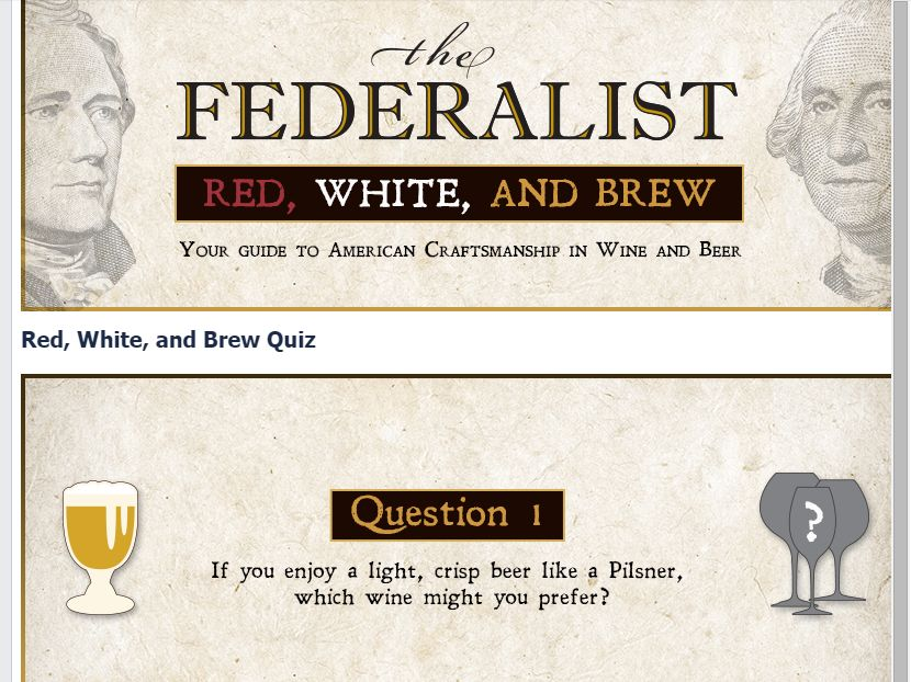 The Federalist Red, White, and Brew Sweepstakes
