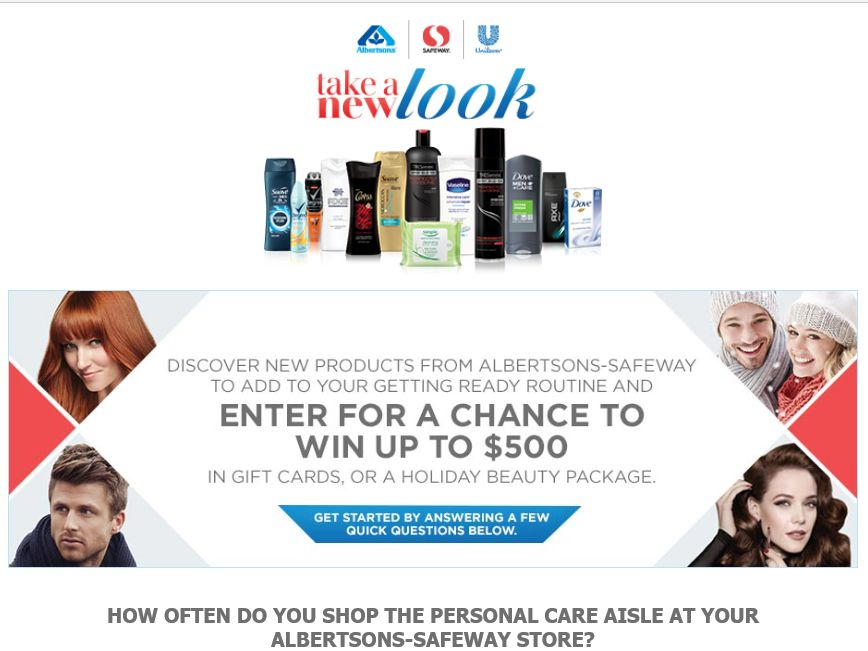 The Safeway-Albertsons Holiday #TakeANewLook Sweepstakes – Select States