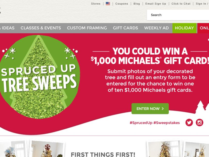 The Michaels Spruced Up Sweepstakes