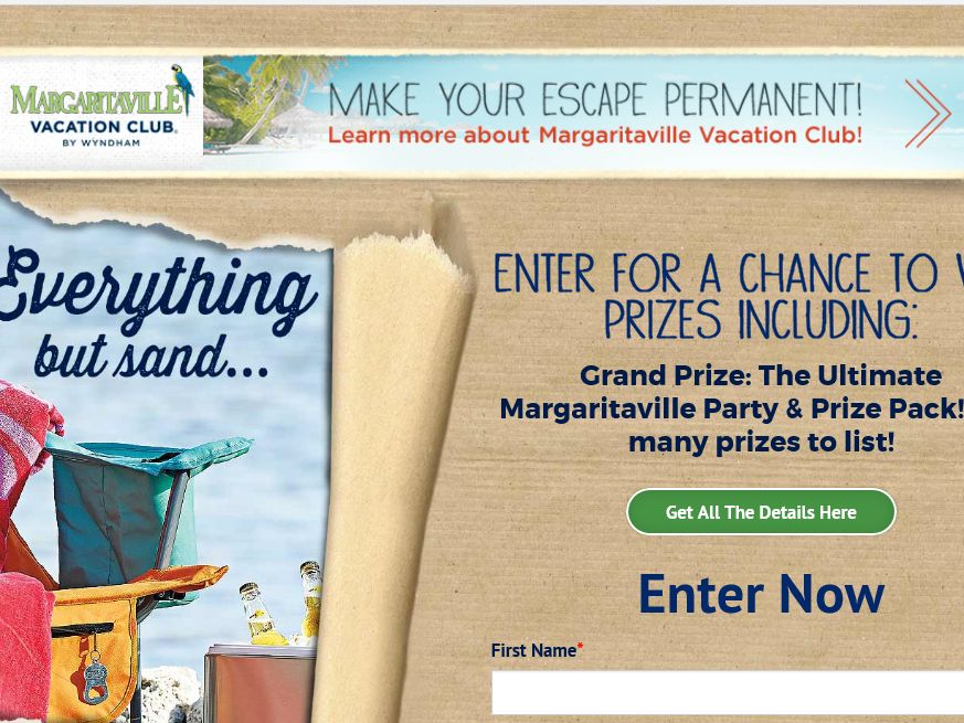 The Margaritaville Everything But Sand Sweepstakes