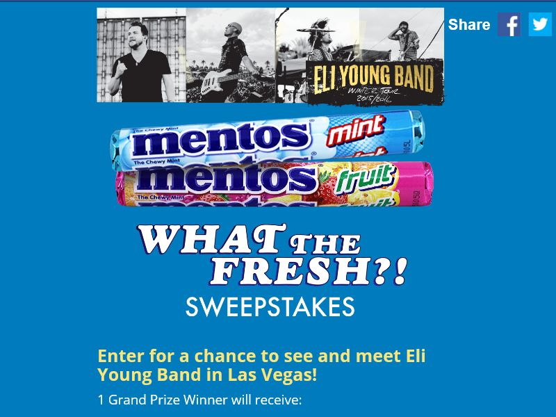 The Mentos What the Fresh Giveaway Sweepstakes