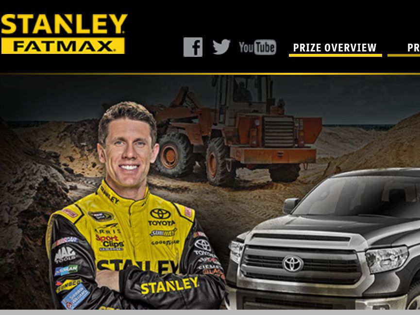 The STANLEY FATMAX Build Your Tundra Sweepstakes