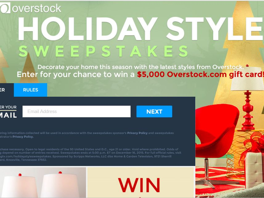 Overstock.com's Holiday Style Sweepstakes